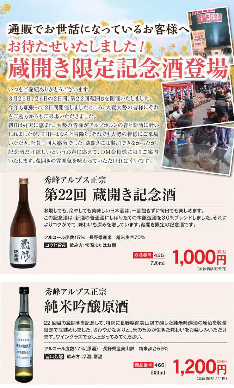 蔵開き限定記念酒2017POP